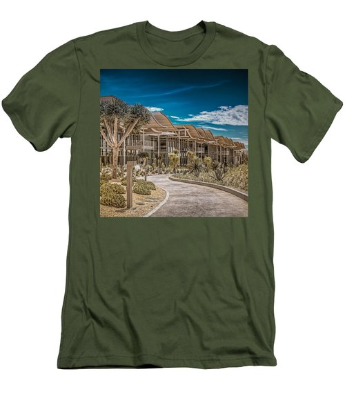 Newport Beach California City Hall Men's T-Shirt (Athletic Fit)