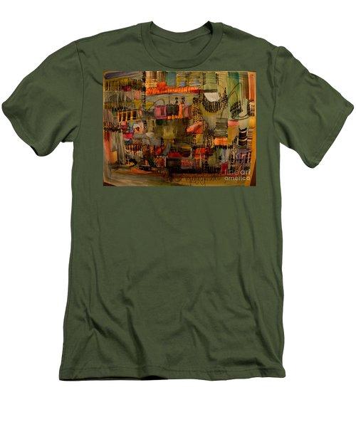 Evening Out Men's T-Shirt (Slim Fit) by Nancy Kane Chapman