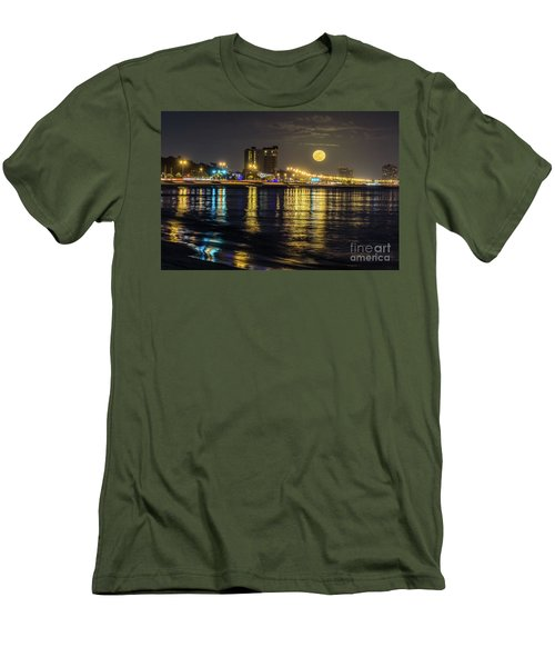 Men's T-Shirt (Slim Fit) featuring the photograph City Moon by Brian Wright