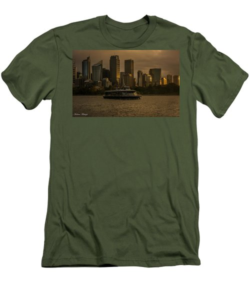 Men's T-Shirt (Slim Fit) featuring the photograph City Skyline  by Andrew Matwijec