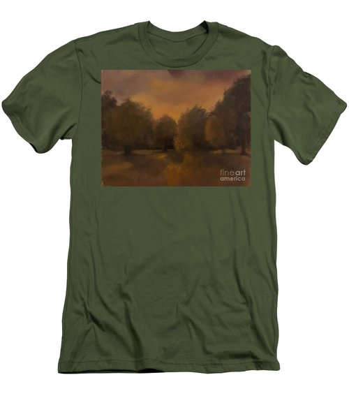Clapham Common At Dusk Men's T-Shirt (Slim Fit) by Genevieve Brown