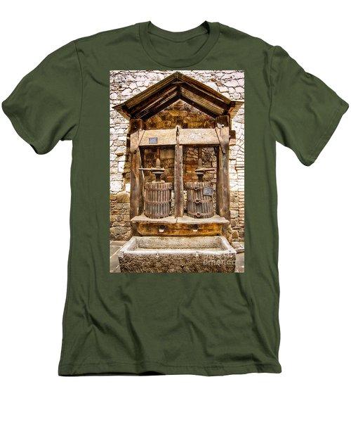Men's T-Shirt (Slim Fit) featuring the photograph Classic Grape Press by Jason Abando