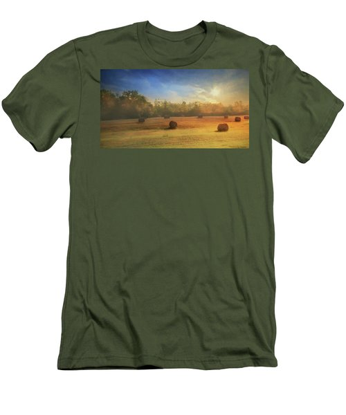 Men's T-Shirt (Slim Fit) featuring the photograph Clayton Morning Mist by Lori Deiter