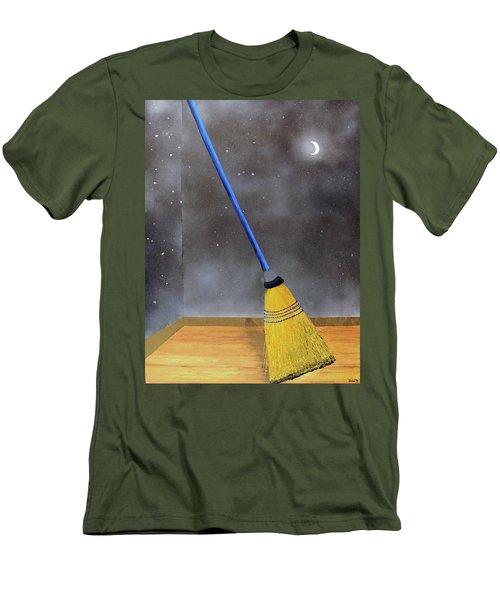 Men's T-Shirt (Slim Fit) featuring the painting Cleaning Out The Universe by Thomas Blood