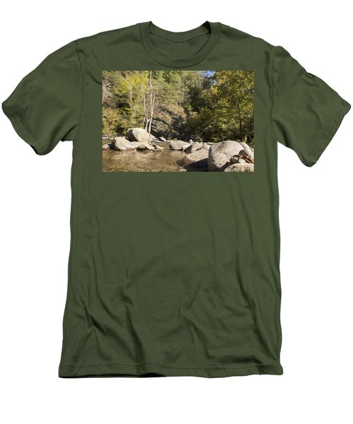 Clear Water Stream Men's T-Shirt (Slim Fit) by Ricky Dean