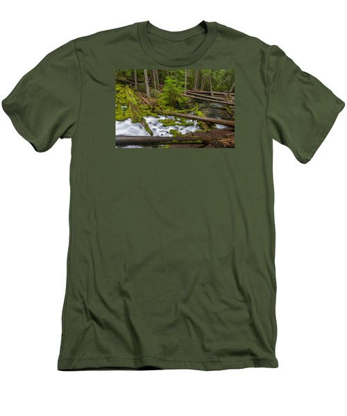 Clearwater Creek Rapids Men's T-Shirt (Slim Fit) by Greg Nyquist