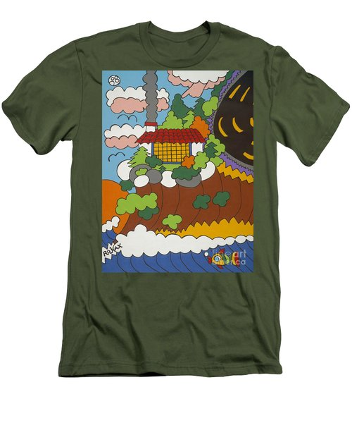 Cliff House Over Ocean Men's T-Shirt (Athletic Fit)