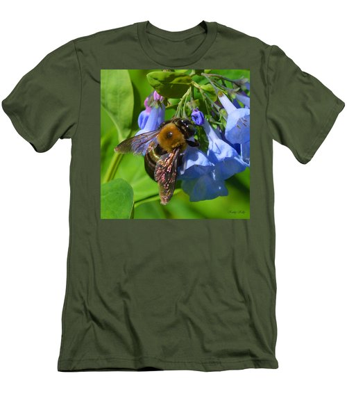 Cling On Men's T-Shirt (Slim Fit) by Kathy Kelly