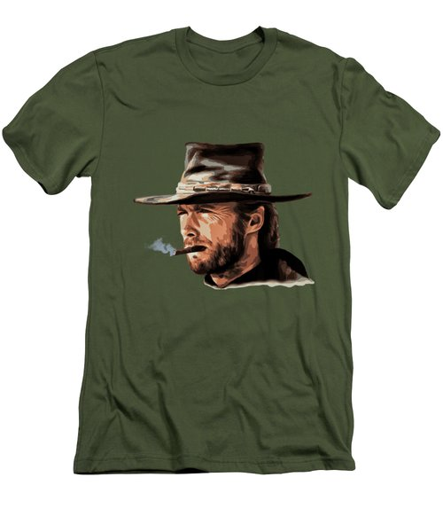 Men's T-Shirt (Slim Fit) featuring the digital art Clint by Andrzej Szczerski
