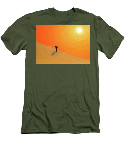 Men's T-Shirt (Slim Fit) featuring the painting Close To The Edge by Thomas Blood