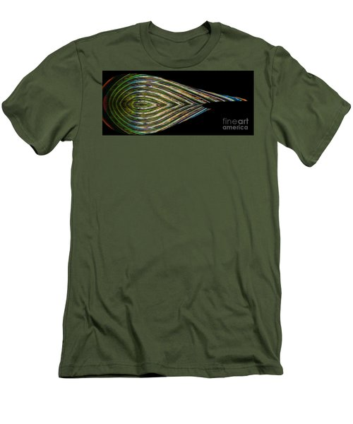 Men's T-Shirt (Athletic Fit) featuring the digital art Closed Eye by Wendy Wilton