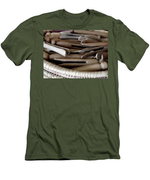 Clothes-pins Men's T-Shirt (Athletic Fit)
