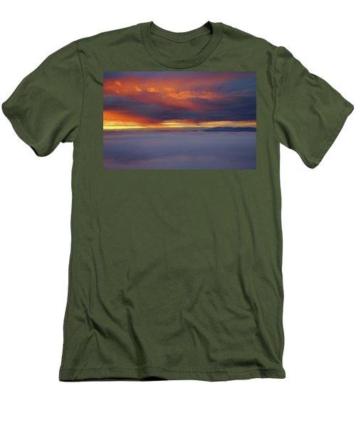 Cloud Layer Sunrise At Dead Horse Point State Park Men's T-Shirt (Athletic Fit)