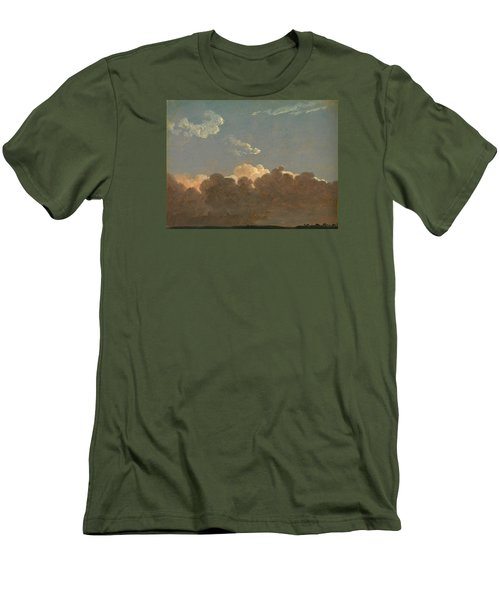 Men's T-Shirt (Slim Fit) featuring the painting Cloud Study. Distant Storm by Simon Denis