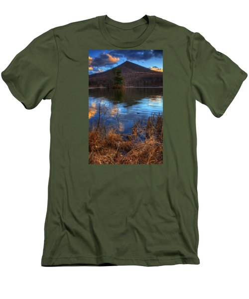 Clouds On Abbott Lake Men's T-Shirt (Slim Fit) by Steve Hurt