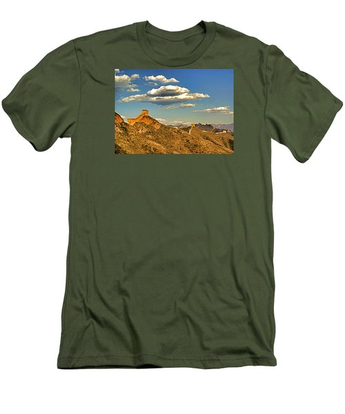 Clouds Over Great Wall Men's T-Shirt (Athletic Fit)