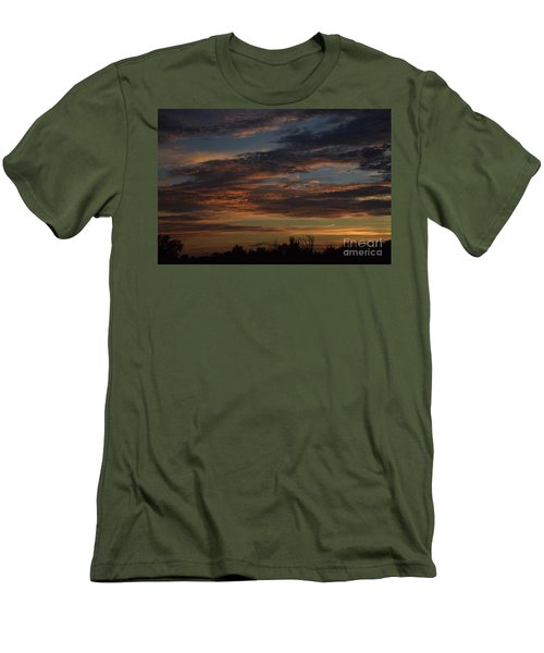 Cloudy Kansas Evening Men's T-Shirt (Slim Fit) by Mark McReynolds