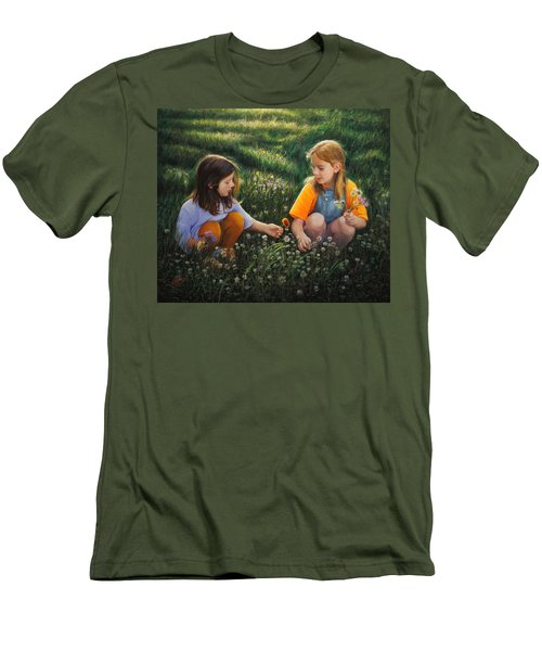 Clover Field Surprise Men's T-Shirt (Athletic Fit)