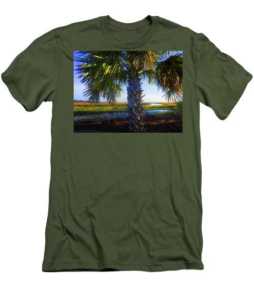 Coastal High Tide  Men's T-Shirt (Slim Fit) by Laura Ragland