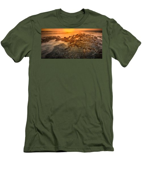 Coastal Rocks Men's T-Shirt (Athletic Fit)