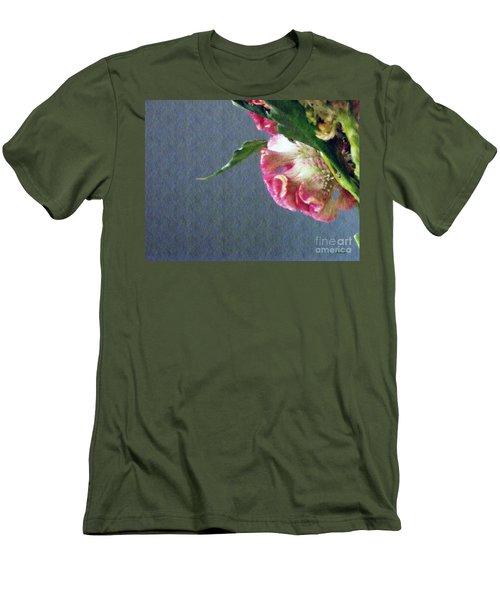 Men's T-Shirt (Slim Fit) featuring the photograph Cockscomb Bouquet 6 by Sarah Loft