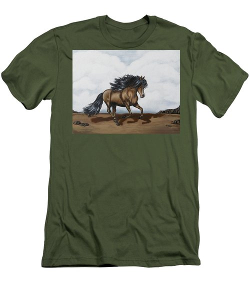 Men's T-Shirt (Slim Fit) featuring the painting Coco by Teresa Wing
