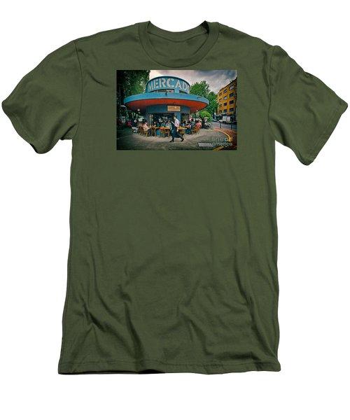 Coffee Caffeine High At 7,000 Feet Men's T-Shirt (Slim Fit) by Sam Antonio Photography