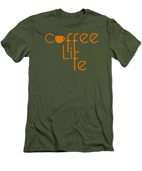 Coffee Is Life #2 Men's T-Shirt (Slim Fit) by Nola Lee Kelsey