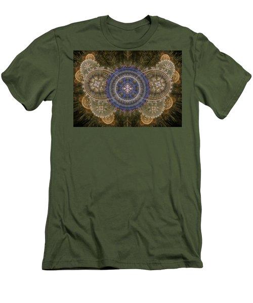 Cogwheel Butterfly  Men's T-Shirt (Athletic Fit)