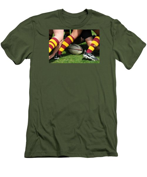 Collegiate Women's Rugby Men's T-Shirt (Slim Fit) by Mike Martin