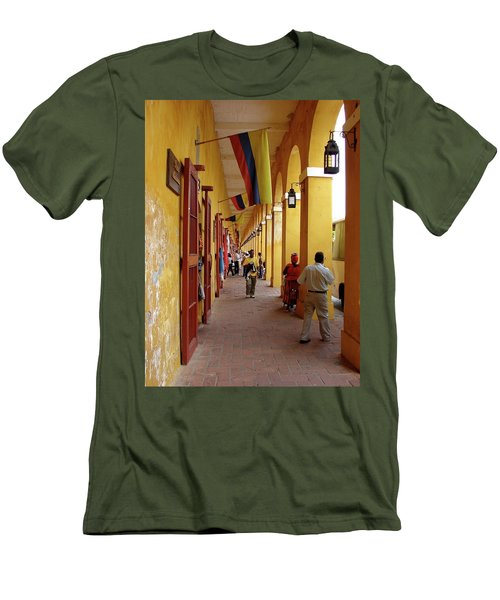Colombia Walkway Men's T-Shirt (Athletic Fit)