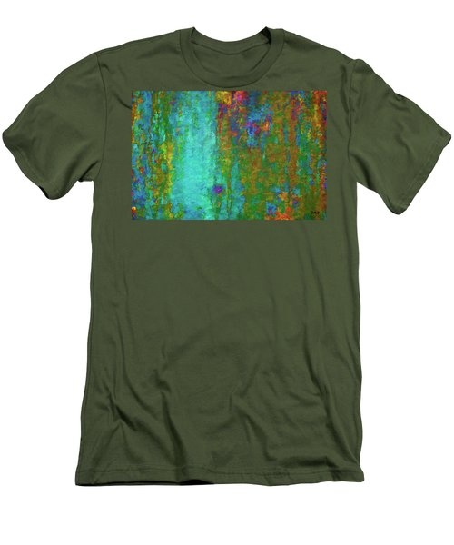 Men's T-Shirt (Slim Fit) featuring the photograph Color Abstraction Lxvii by David Gordon