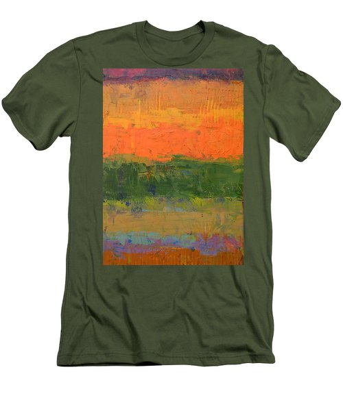 Men's T-Shirt (Slim Fit) featuring the painting Color Collage Four by Michelle Calkins
