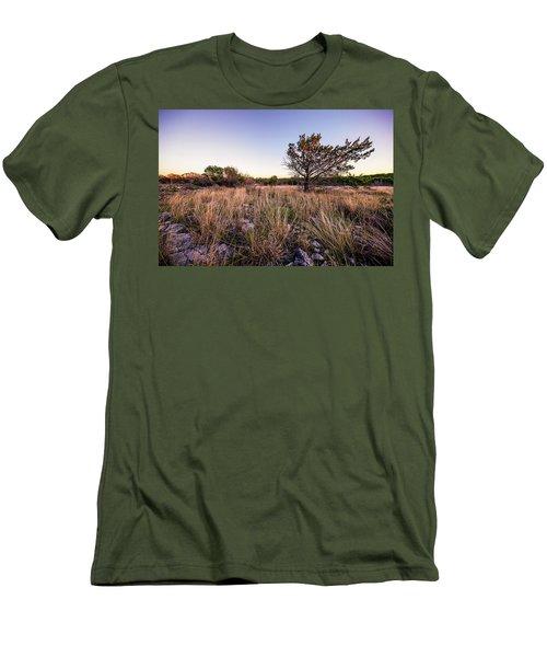 Colorado Bend State Park Gorman Falls Trail #2 Men's T-Shirt (Slim Fit) by Micah Goff