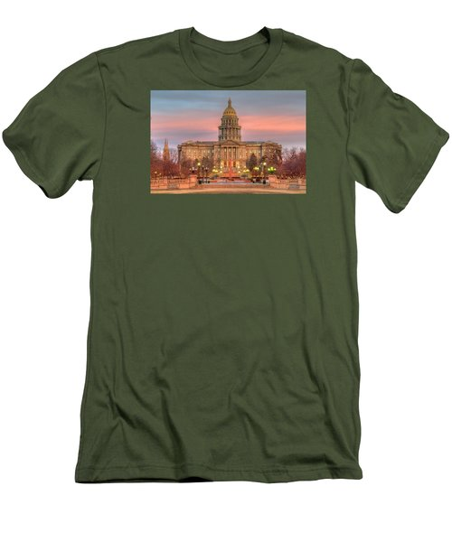 Men's T-Shirt (Slim Fit) featuring the photograph Colorado Capital by Gary Lengyel