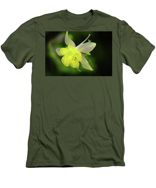 Men's T-Shirt (Slim Fit) featuring the photograph Colorado Columbine by Marie Leslie