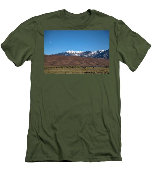 Colorado Great Sand Dunes With Falling Star Men's T-Shirt (Slim Fit) by James BO Insogna