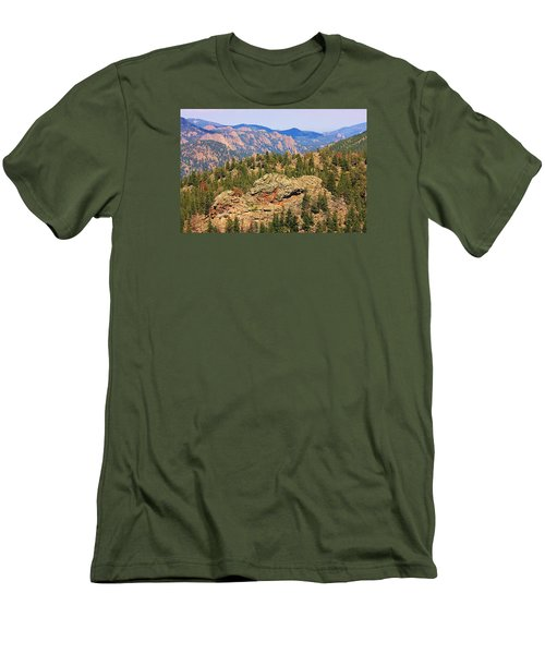 Men's T-Shirt (Slim Fit) featuring the photograph Colorado Rocky Mountains by Sheila Brown