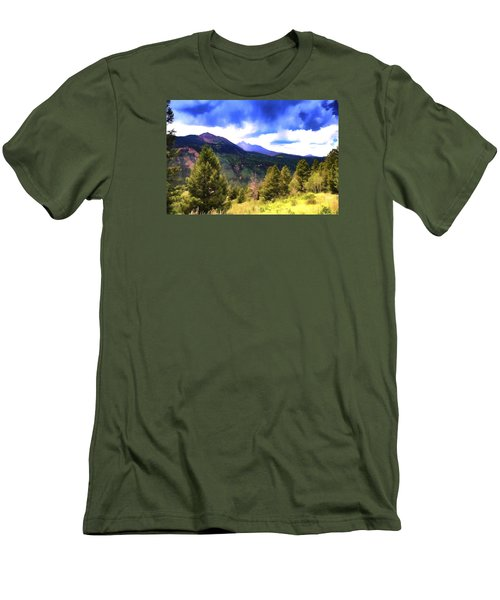 Colorado Watercolor Men's T-Shirt (Slim Fit) by James Bethanis