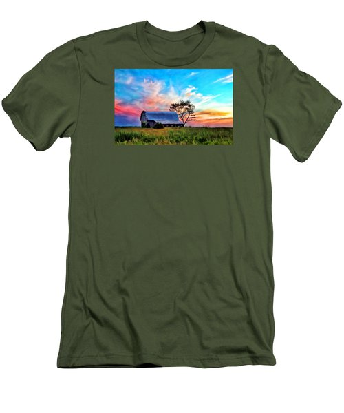 Colored Sunrise Men's T-Shirt (Athletic Fit)