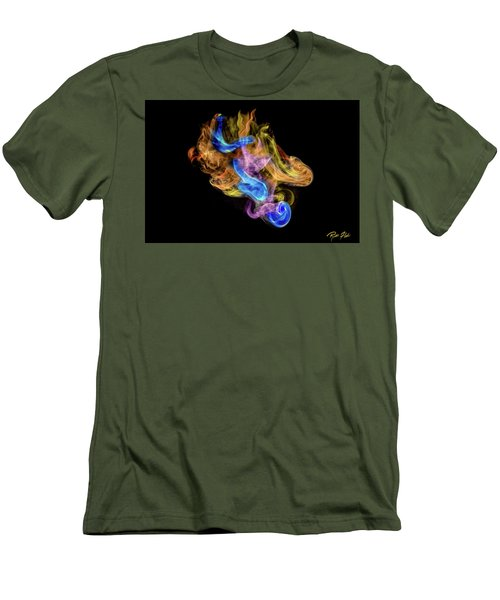 Men's T-Shirt (Athletic Fit) featuring the photograph Colored Vapors by Rikk Flohr