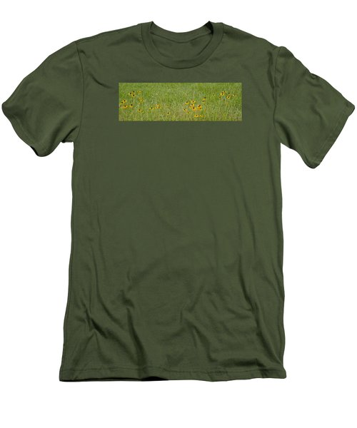 Men's T-Shirt (Slim Fit) featuring the photograph Colorful Field by Wanda Krack