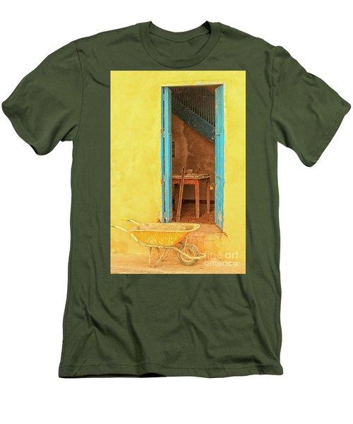 Colorful House  Men's T-Shirt (Athletic Fit)