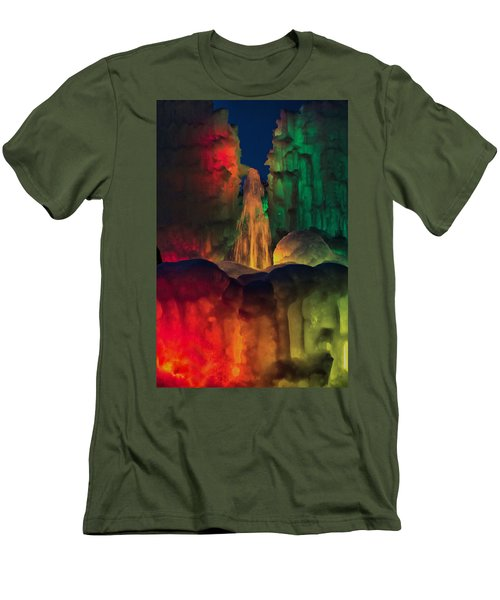 Colorful Ice  Men's T-Shirt (Slim Fit) by Betty Pauwels