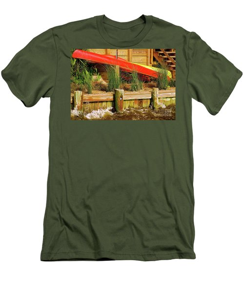 Men's T-Shirt (Athletic Fit) featuring the photograph Colorful Kayak Duo by Lois Bryan