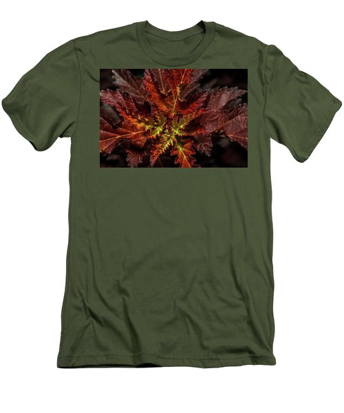 Men's T-Shirt (Slim Fit) featuring the photograph Colorful Leaves by Paul Freidlund