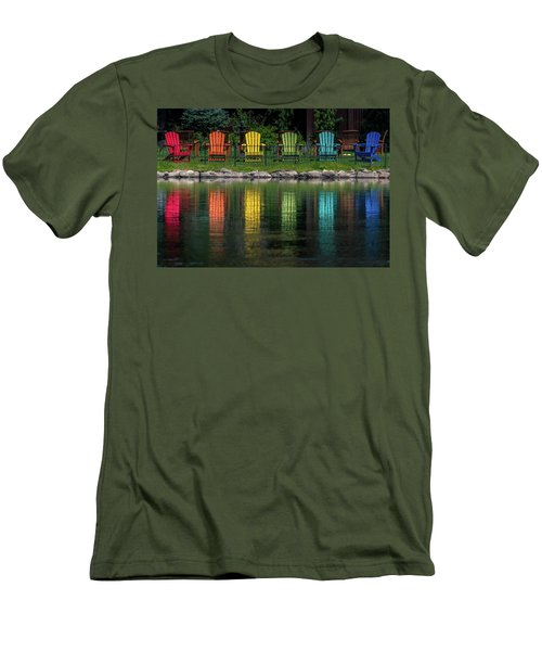 Colorful  Men's T-Shirt (Slim Fit) by Martina Thompson