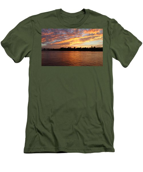 Men's T-Shirt (Slim Fit) featuring the photograph Colorful Sky At Sunset by Cynthia Guinn