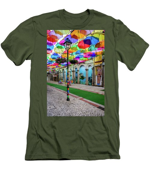 Colorful Street Men's T-Shirt (Slim Fit) by Marco Oliveira