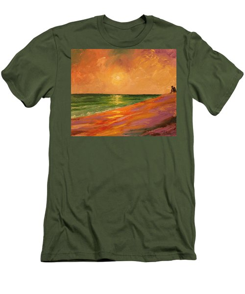 Colorful Sunset Men's T-Shirt (Athletic Fit)